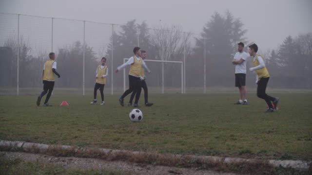 4K: Children Playing Soccer. video