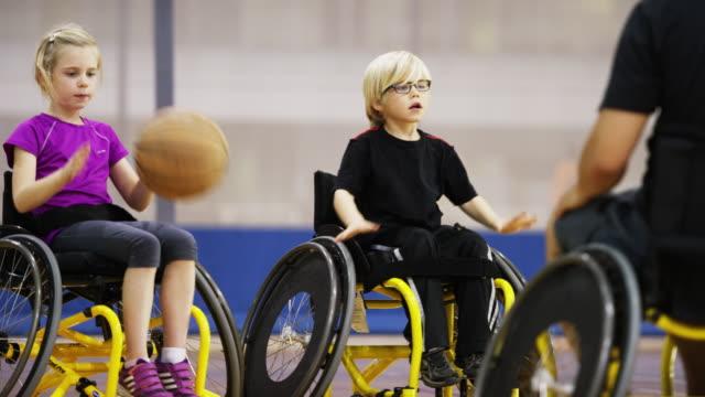 Children Playing Wheelchair Basketball
