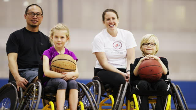 Children Playing Wheelchair Basketball video