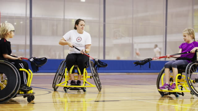 Children Playing Wheelchair Lacrosse video