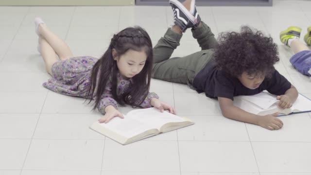 Children read a books video