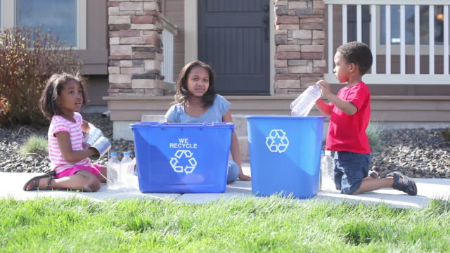 children recycling - recycling stock videos & royalty-free footage