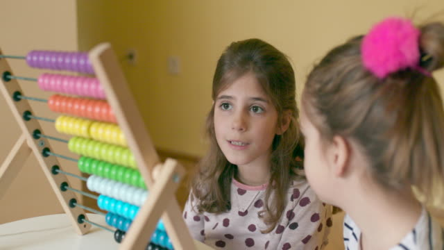 Children with abacus video