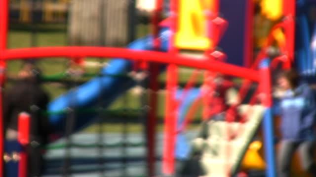 Children's Playground. Defocussed. video