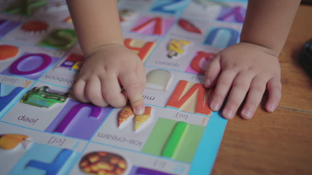 Child's hand pointing to the english alphabet,Close-up Child's hand pointing to the english alphabet,Close-up alphabet stock videos & royalty-free footage
