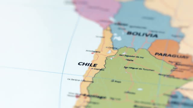 south america chile on world map - south america travel stock videos and b-roll footage