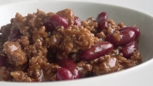 chili bowl - chilli con carne video stock e b–roll