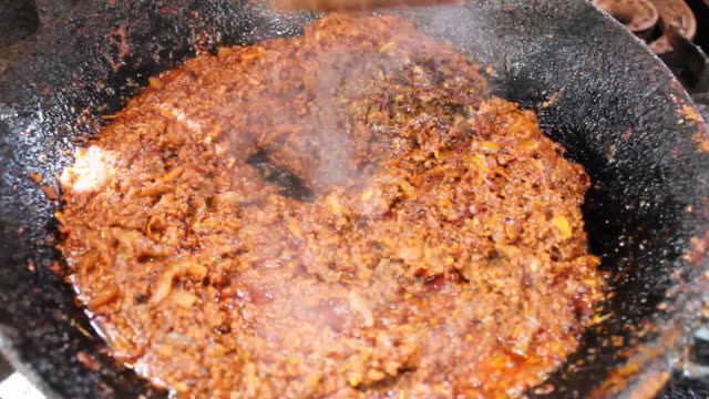 Chili paste stir. video