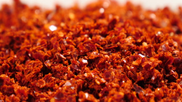 Chilli Powder For Kimchi Chilli Powder For Kimchi chili pepper stock videos & royalty-free footage