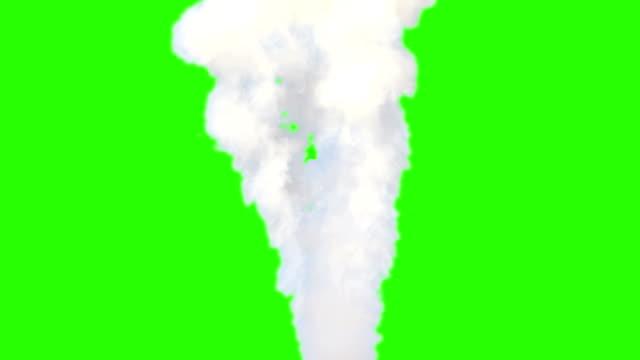 komin przepływu spalin dym ekspozycja na zielony ekran - para aranżacja filmów i materiałów b-roll
