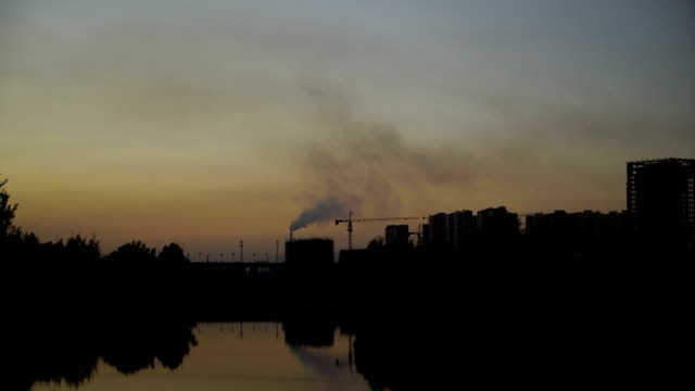 Chimney Smoke From a Chemical Plant video