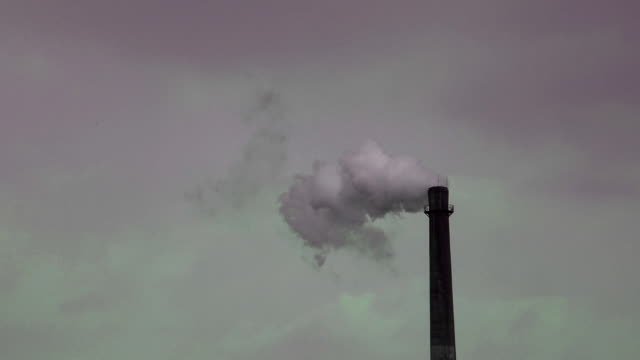 Chimney smoke pollution video