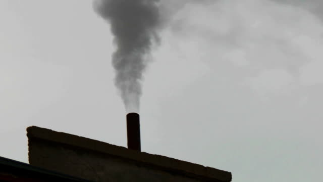 Chimneys of Power Plant. Air Pollution video
