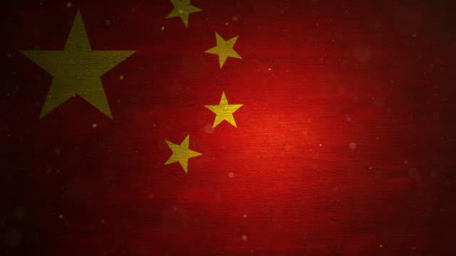china-flagge - grunge. 4k - kommunismus stock-videos und b-roll-filmmaterial