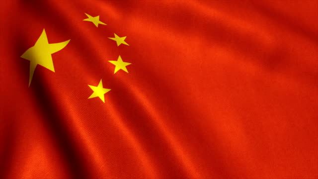 China bandera Video lazo - HD - vídeo