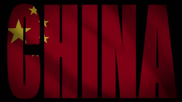 china-flagge mit china maske - kommunismus stock-videos und b-roll-filmmaterial
