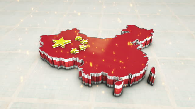 China Map 3D animation of the map of china china east asia stock videos & royalty-free footage