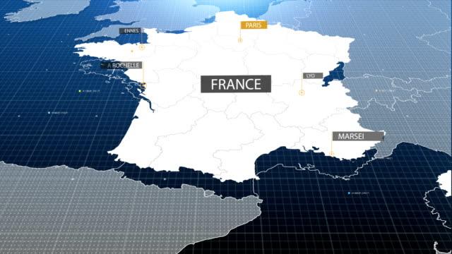 vídeos y material grabado en eventos de stock de mapa de china con etiqueta con etiqueta - francia