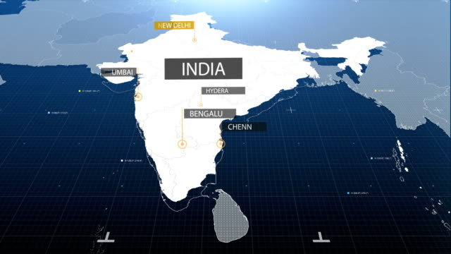 china map with label then with out label - india video stock e b–roll