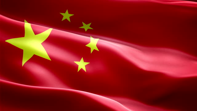 Bandera nacional de China. Efecto de transitorios (nuevo - vídeo
