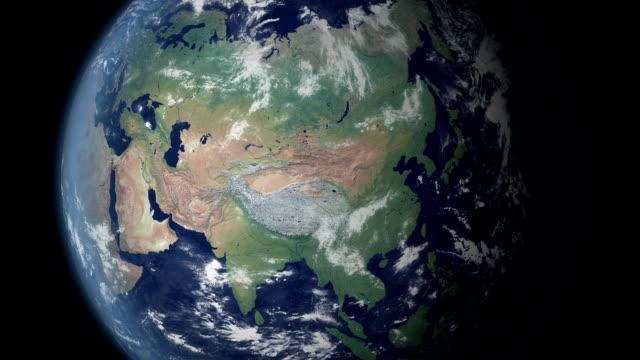 vídeos de stock e filmes b-roll de a china irá aparecer depois de terra zoom (com alpha matte) - green world
