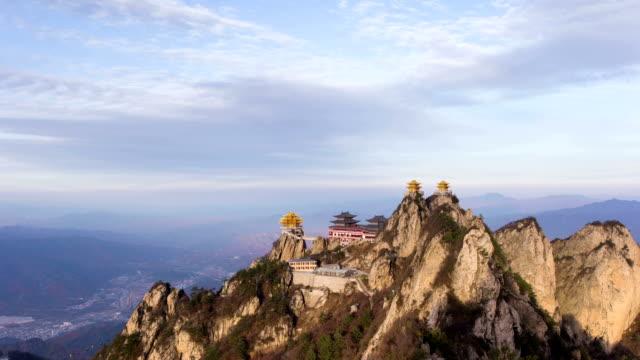 China Sacred Taoist laojun Mountain temples video