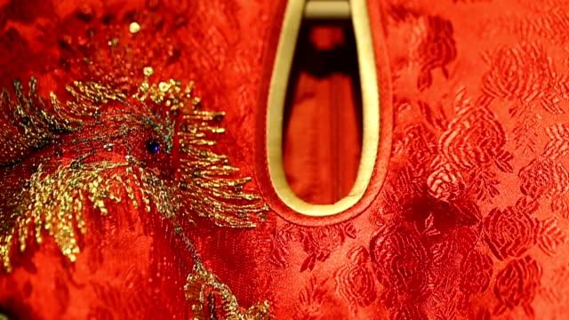 China traditional wedding dress. video