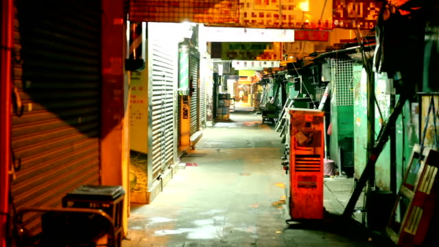 China Chinese Street Market at night alley stock videos & royalty-free footage