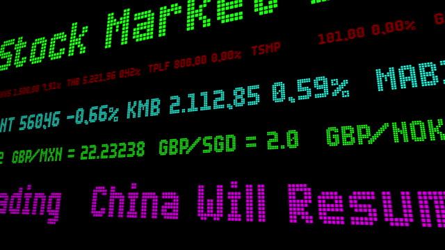 vídeos de stock e filmes b-roll de china will resume cryptocurrency trading - nyse crash