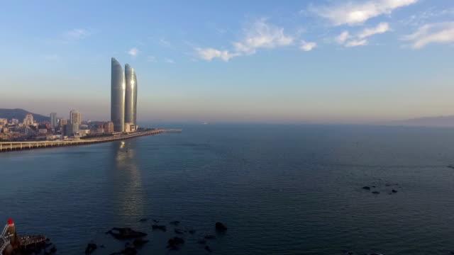 kina xiamen landmark ocean drone - xiamen bildbanksvideor och videomaterial från bakom kulisserna
