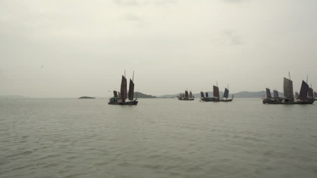 China's sailboat is on the lake video