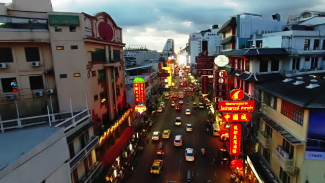 Chinatown, Bangkok, Thailand by Drone video