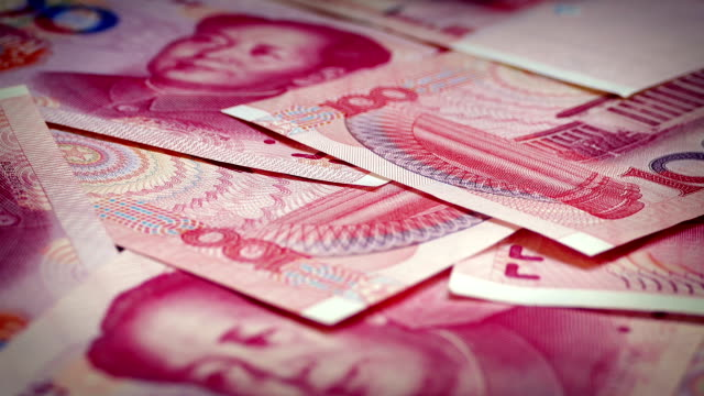 chinesische 100 yuan banknoten rotierenden - kommunismus stock-videos und b-roll-filmmaterial