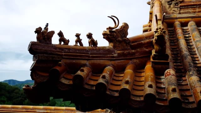 Chinese ancient architecture - stock video