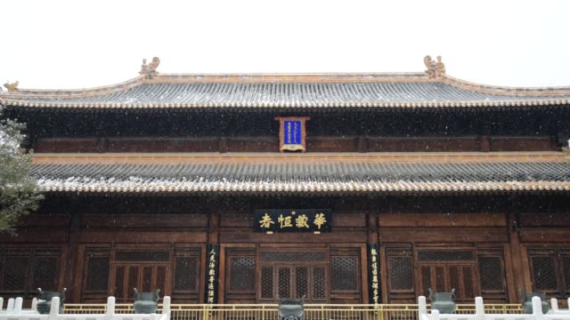 Chinese ancient buildings in the snowflake