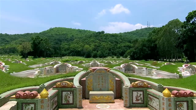 Chinesischer Friedhof in Ching Ming festival – Video