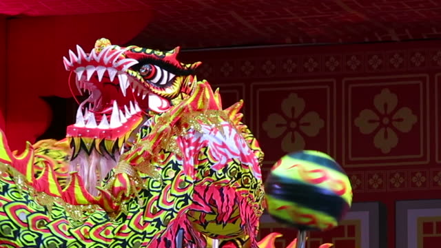 Chinese Dragon Dance Chinese Dragon Dance chinese new year stock videos & royalty-free footage