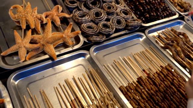 中国のエキゾティックなお料理には、北京の中心 - 異国情緒点の映像素材/bロール