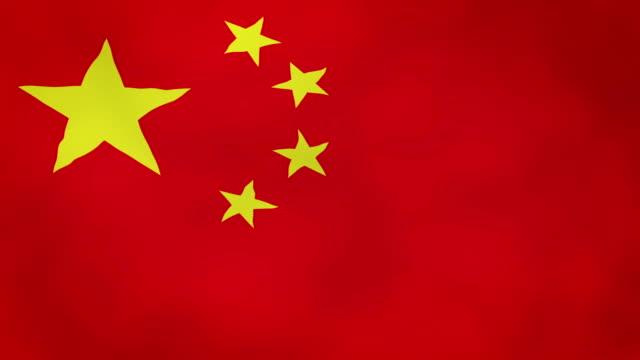 Bandera China en el viento - video - vídeo