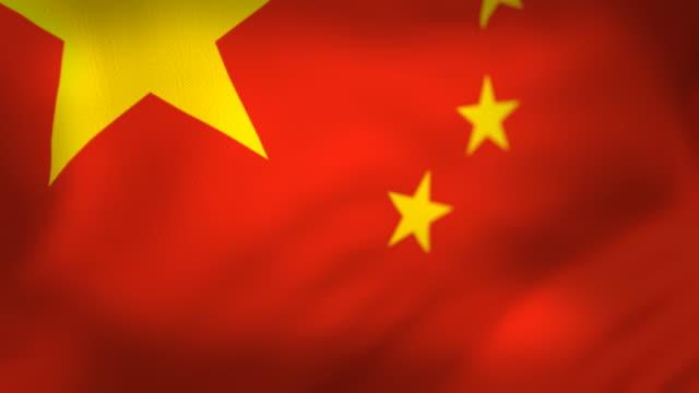 Bandera china ideal bucle - vídeo