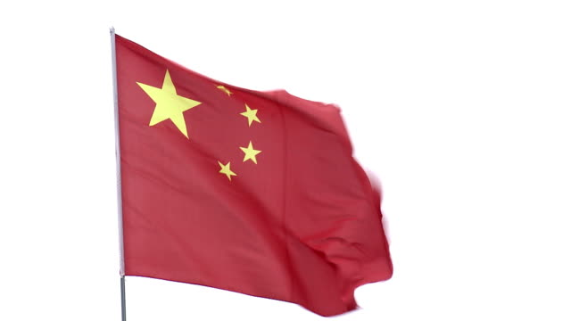 Chinese flag waving Chinese flag waving in the wind k icon stock videos & royalty-free footage