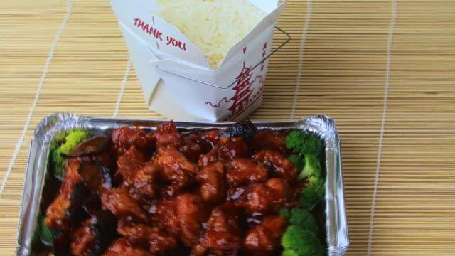 Comida china de alta definición - vídeo