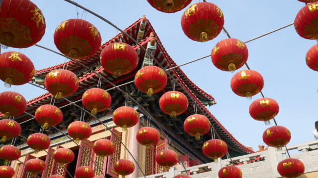 Chinese lamps of chinese new year video