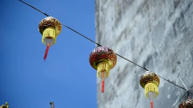 chinese lantern - chinese new year filmów i materiałów b-roll