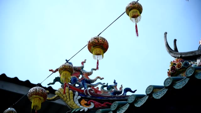 chinese lantern - new year стоковые видео и кадры b-roll