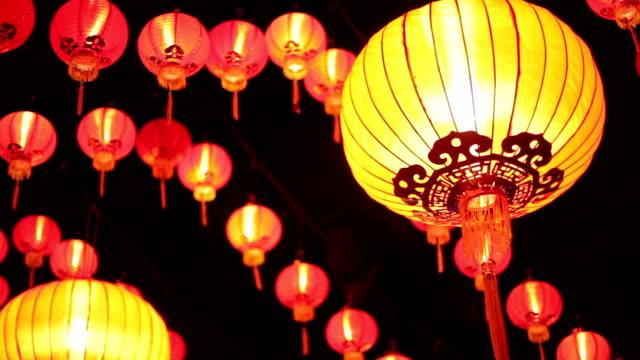китайский светильник в малайзии - китайский фонарь стоковые видео и кадры b-roll