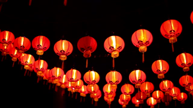 Chinese lanterns in Malaysia video