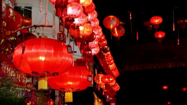chiński nowy rok dekoracja - chinese new year filmów i materiałów b-roll