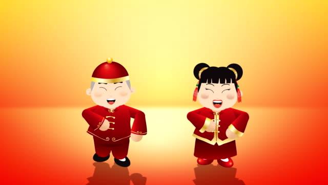 chiński nowy rok powitanie - chinese new year filmów i materiałów b-roll
