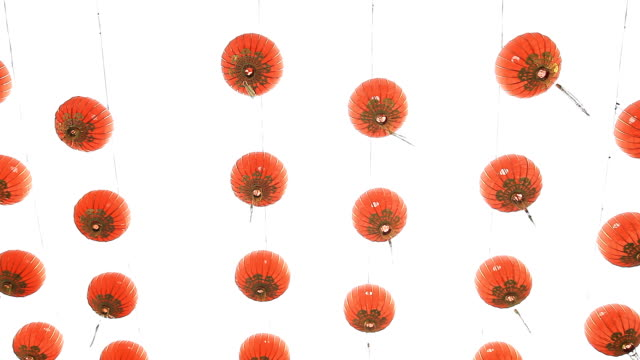 китайский новый год фонарь украшения. - китайский фонарь стоковые видео и кадры b-roll